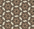Free Brown Seamless With Hexagonal Flowers Royalty Free Stock Photography - 31704797