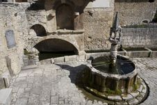 Fontecchio, Fountain Royalty Free Stock Image