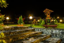 Free Vintage Place At Night, Transylvanian Village Royalty Free Stock Photos - 31702148