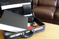 Free Briefcase And Items For A Business Meeting Stock Photo - 31706550