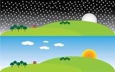 Free Vector Landcape Illustration Stock Images - 31707444