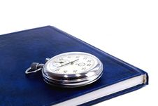 Free Stopwatch And The Notebook On A White Background Stock Images - 31707704