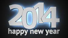 Free Happy New 2014 Stock Photography - 31709642
