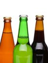 Free Beer Collection - Three Green Beer Bottles. Royalty Free Stock Photography - 31719117