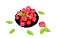 Free Sweet Cherries In A Plate Stock Photography - 31710962