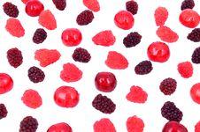 Free Cherry, Raspberry, Blackberry Royalty Free Stock Photos - 31711708