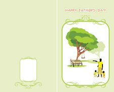 Free Greeting Card To The Father's Day Stock Images - 31713384