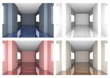Set Of Tile Floor With Windows Stock Photos