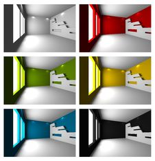 Free Set Of Empty Room Royalty Free Stock Photos - 31715678