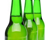 Free Three Bottles Of Beer Close-up Stock Photo - 31719010