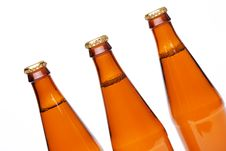 Free Three Cool Beer Bottle, IIsolated On White. Royalty Free Stock Photo - 31719045