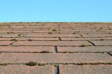 Free Old Shingle Roof Overgrown With Moss Stock Photo - 31721670