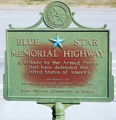 Free Kansas State ,blue Star On The Road Stock Photography - 31735782