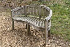 Free Wooden Garden Bench. Stock Photo - 31739240