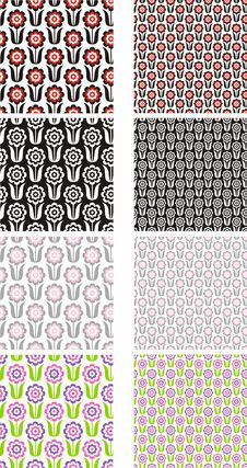 Free Flower Patterns Stock Image - 31740441