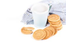 Free Milk And Cookies Royalty Free Stock Photos - 31743838