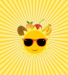 Free Shining Summer Background With Fruit, Bananas, Che Stock Photo - 31744000