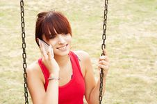 Free Beautiful Girl With Mobile Phone Royalty Free Stock Photo - 31746145