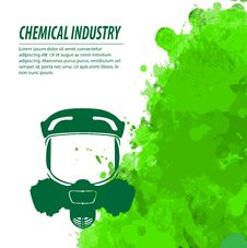 Gas Mask And Chemical Industry Stock Photography