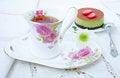 Free Dessert - Tea And Cake Tiramissu Stock Photos - 31757153