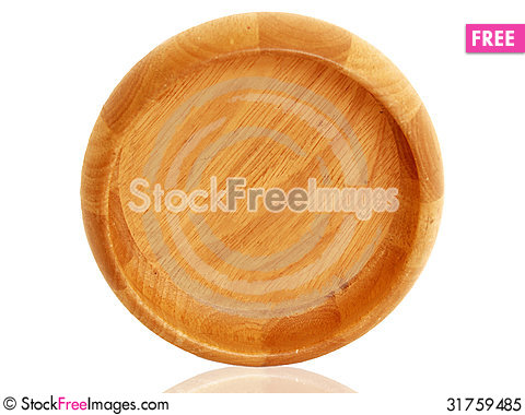 Free Empty Wooden Bowl Top View Royalty Free Stock Photo - 31759485