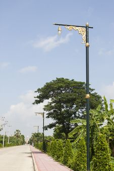 Free Decorated Light Pole Stock Images - 31750604