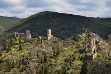 Free Chateau De Lastours Royalty Free Stock Photos - 31751658