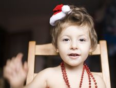 Free Portrait Of Little Cute Boy In Christmas Stock Image - 31751751