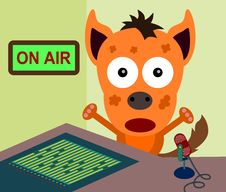 Free Hyena Announcer Royalty Free Stock Photography - 31756257