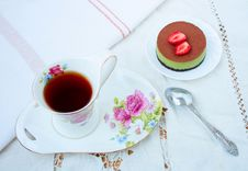 Breakfast - Tea And Cake Royalty Free Stock Photography