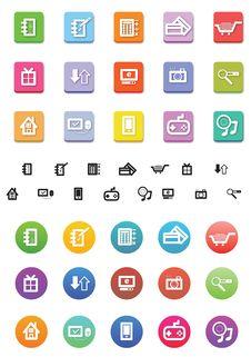 Free Shopp Icons Royalty Free Stock Images - 31759859