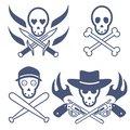 Free Vintage Skulls Set Stock Image - 31760691