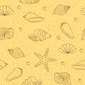 Free Seamless Pattern With Shells Stock Image - 31765781