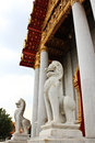 Free Lion Marble Statue Infront Of Chapel Stock Photos - 31766063