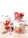 Free Breakfast - Yogurt, Granola And Strawberries Stock Photography - 31766372