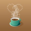 Free Green Cup Of Coffee Royalty Free Stock Photo - 31768315