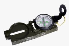 Free A Small Compass In A Metal Frame On A White Background. Royalty Free Stock Image - 31764656