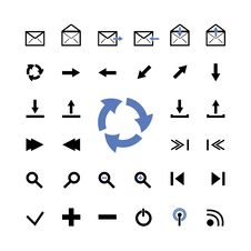 Vector Set Of Web Icons Royalty Free Stock Images