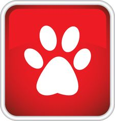Free The Icon With The Image Of An Animal Trail Stock Images - 31768254