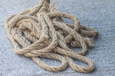 The Big Rope On The Floor Royalty Free Stock Image