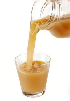 Pear Juice Is Poured Royalty Free Stock Photo