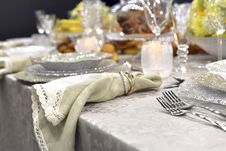 Holiday Place &x28;table&x29; Setting Stock Photography
