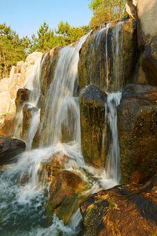 Free The Waterfall Scenery Xian Royalty Free Stock Photos - 31777228