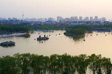 The Datang Furong Garden Landscape Xian Royalty Free Stock Photos