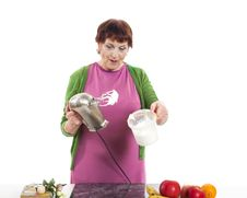 Free Woman Cooking Stock Image - 31779051