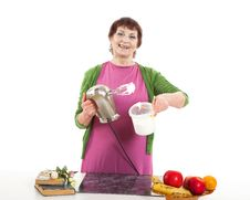 Free Woman Cooking Stock Image - 31779141