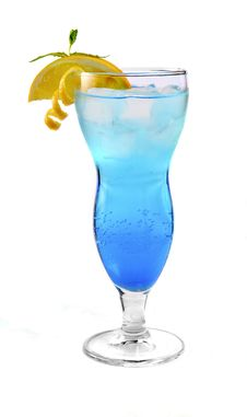 Free Blue Cocktail With Ice And Orange Royalty Free Stock Images - 31779409