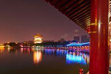 Free The Beautiful Night Landscape Xian Stock Image - 31779851