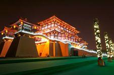 Free The Ziyunlou Building Night Xian Royalty Free Stock Image - 31779896