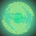 Free Labyrinth Pattern Round Green Royalty Free Stock Photo - 31780695